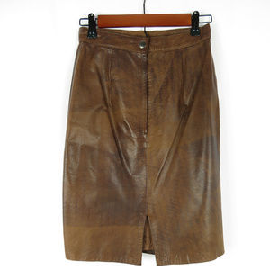Andrew Marc Leather Skirt